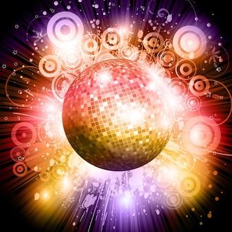Fundo bola de discoteca