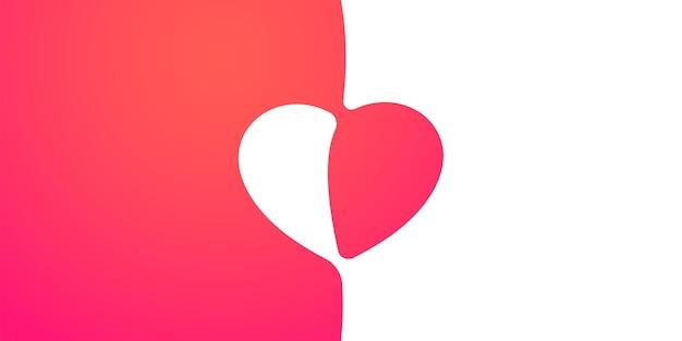 Fundo bonito abstrato com forma de coração