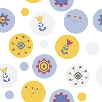 Fundo bonito abstrato flor padrão sem emenda vector illustr