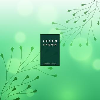 Fundo bonito bokeh com design floral folhas