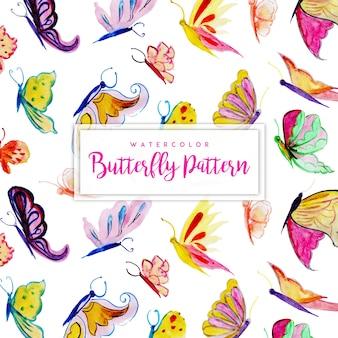 Fundo bonito borboletas aquarela