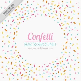 Fundo bonito celebração com confetti