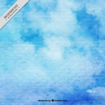 Fundo bonito com azul textura da aguarela