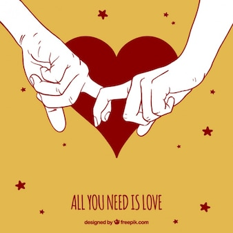Fundo bonito das mãos do casal juntos