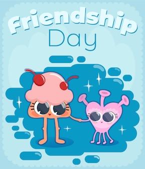 Fundo bonito de amizade dia