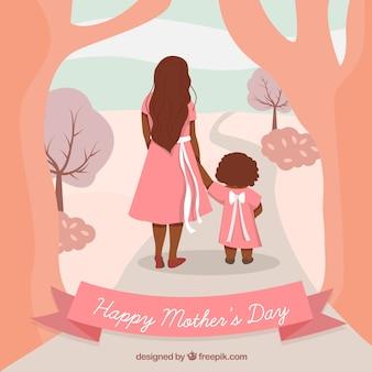 Fundo bonito do dia das mães