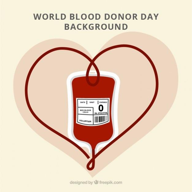 Fundo bonito do dia do doador de sangue do mundo