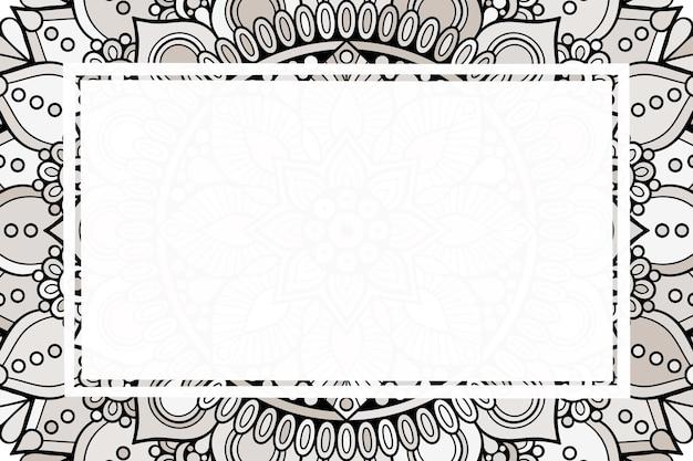 Fundo bonito do ornamento. moldura geométrica