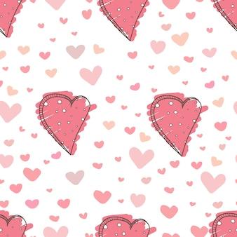 Fundo bonito do teste padrão do coração.