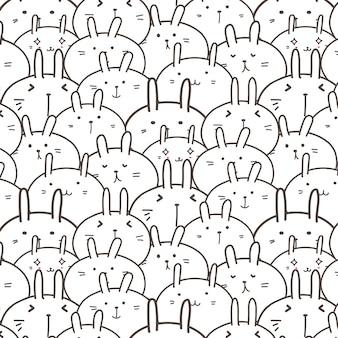Fundo bonito do teste padrão do vetor do coelho.