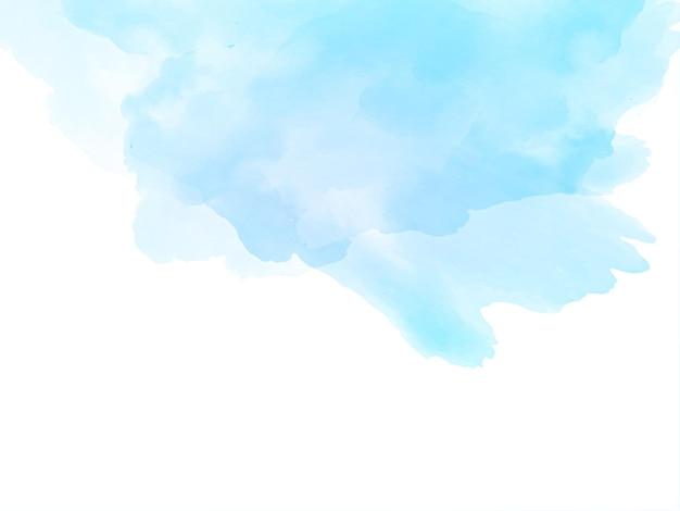 Fundo bonito e elegante com textura aquarela azul