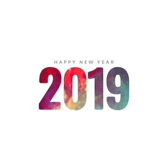 Fundo bonito feliz ano novo de 2019