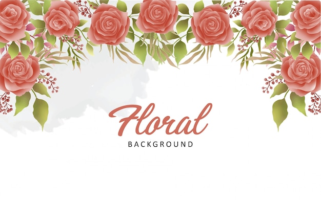 Fundo bonito flor aquarela