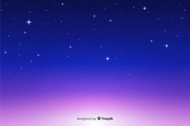 Fundo bonito gradiente noite estrelada