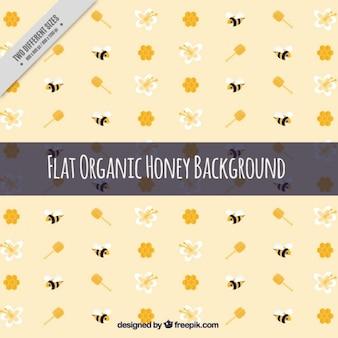 Fundo bonito mel com flores e abelhas