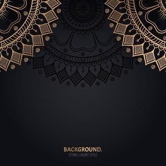 Fundo bonito ornamental. motivo dourado.