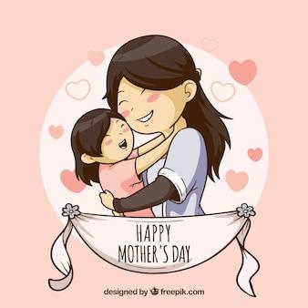 Fundo bonito para o dia das mães feliz