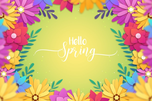 Fundo bonito primavera em estilo de jornal