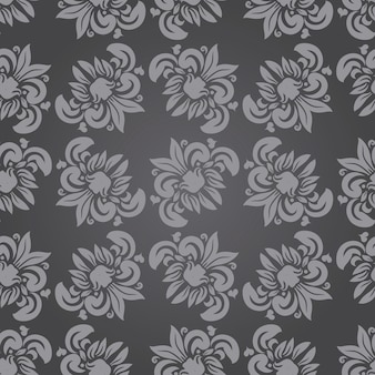 Fundo bonito sem costura padrão floral em vetor