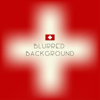 Fundo borrado da bandeira de switzerland da cor.