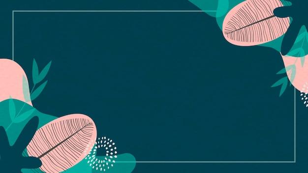 Fundo botânico abstrato verde e rosa