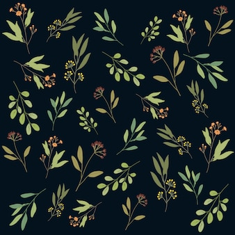Fundo botânico padrão floral