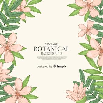 Fundo botânico vintage