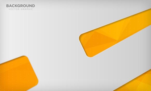 Fundo branco abstrato em textura poligonal laranja