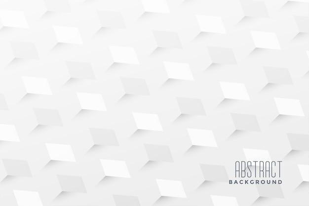 Fundo branco abstrato em zigue-zague 3d