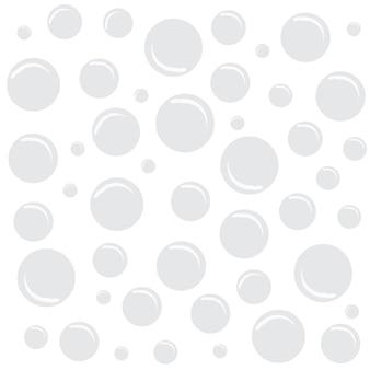 Fundo branco com bolhas