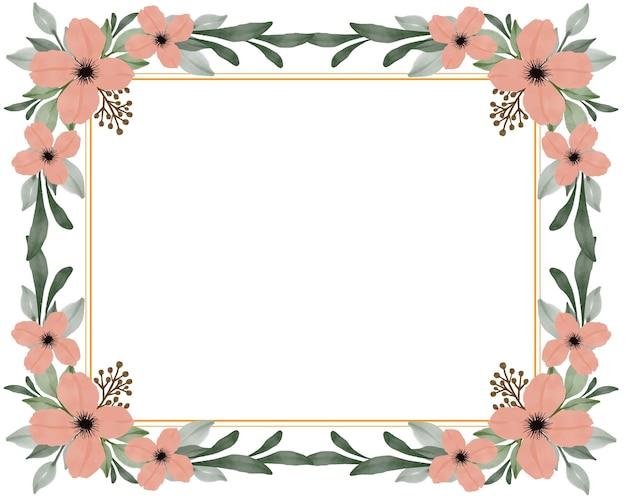 Fundo branco com buquê de flores de laranja para cartão.