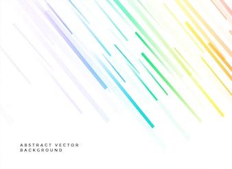 Fundo branco com linhas coloridas