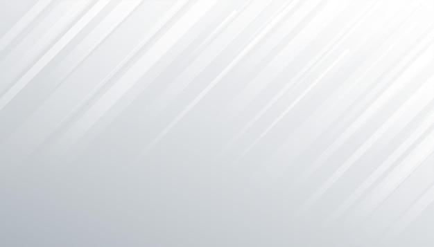 Fundo branco com linhas diagonais de movimento