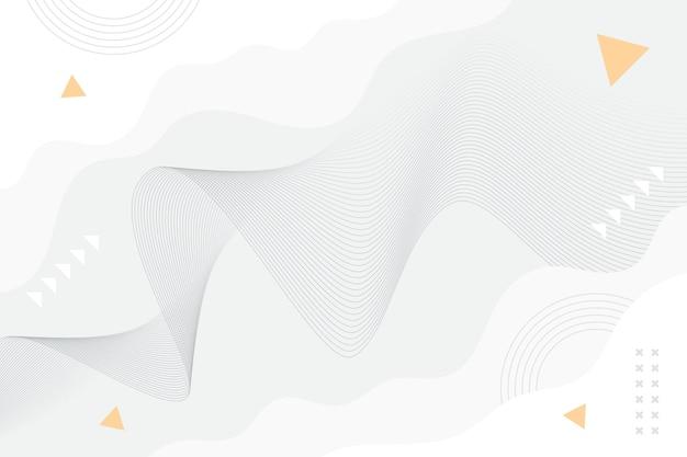 Fundo branco com linhas onduladas