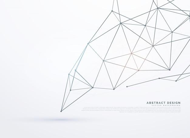 Fundo branco com linhas poligonais