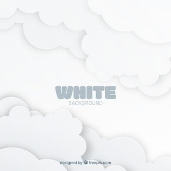 Fundo branco com nuvens