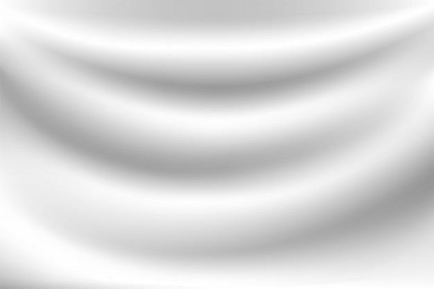 Fundo branco com ondas de leite parece macio, como um pano branco balançando.