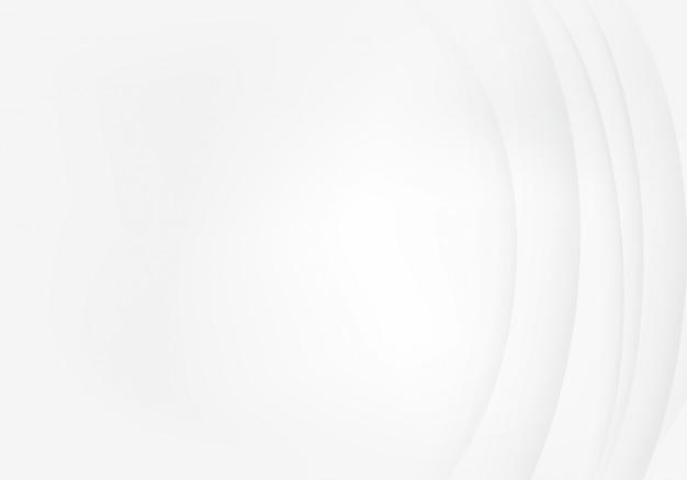 Fundo branco com padrão de linha de onda de sombra abstrata