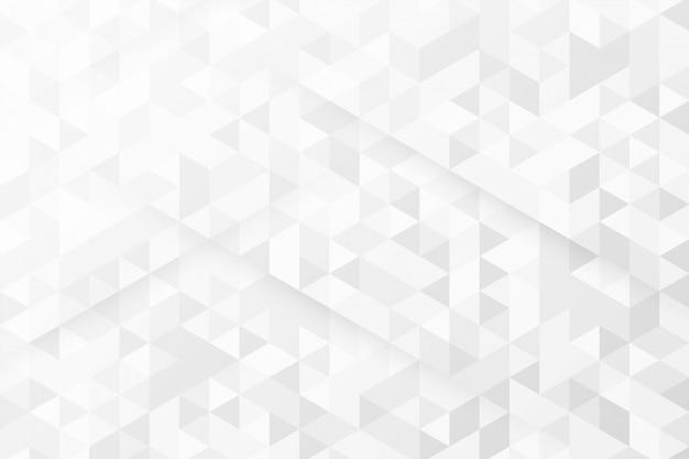 Fundo branco com padrões de triângulo