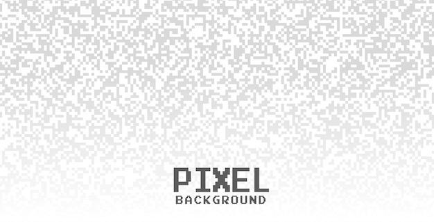 Fundo branco com pontos de pixel cinza