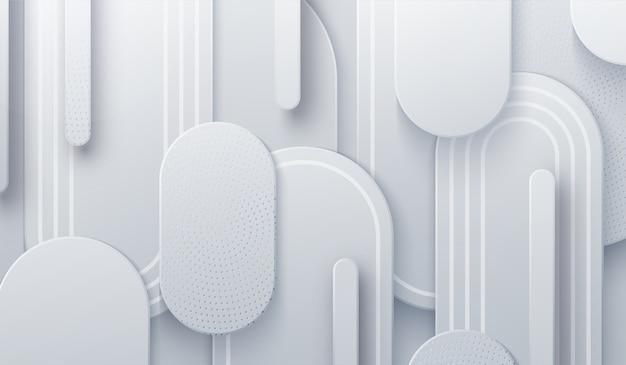 Fundo branco com recorte de papel. ilustração 3d. fundo geométrico abstrato em camadas.