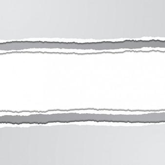 Fundo branco com textura de papel rasgado