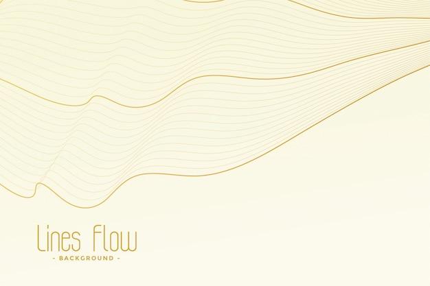 Fundo branco com traços de linha dourada