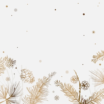 Fundo branco com vetor de decoração de inverno