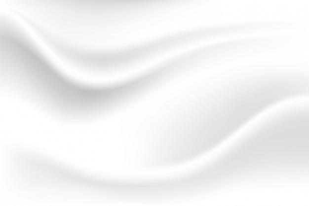 Fundo branco da onda do leite olha macio, como um pano branco balançando.