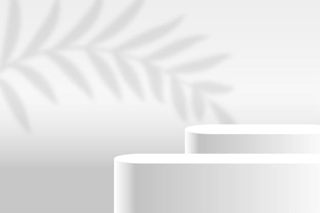 Fundo branco da plataforma do palco de exibição do produto