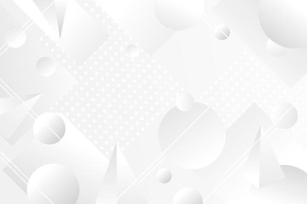Fundo branco de formas geométricas abstratas