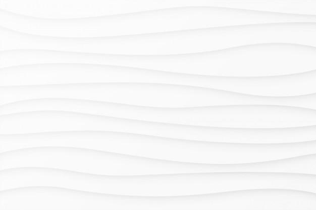 Fundo branco de linhas onduladas suave mínima