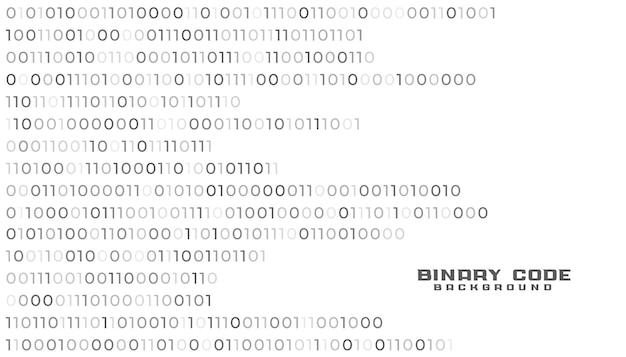 Fundo branco de tecnologia de rede de código binário