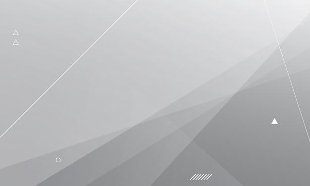 Fundo branco e cinza da bandeira da onda moderna